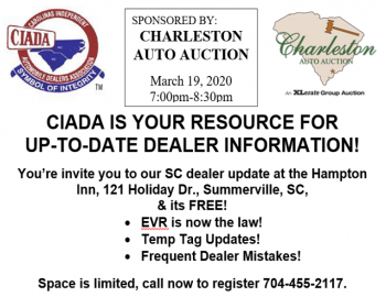South Carolina Dealers- Charleston Auto Auction